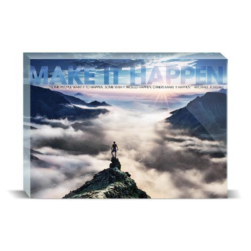 Make It Happen Mountain Motivational Art