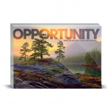 Opportunity Mountain Lake Motivational Art