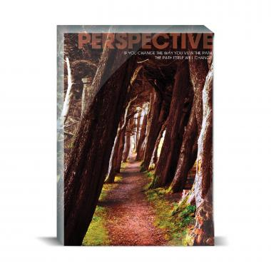Perspective Wooded Path Motivational Art