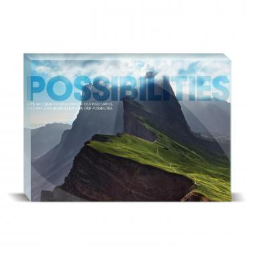 Possibilities Mountain Motivational Art