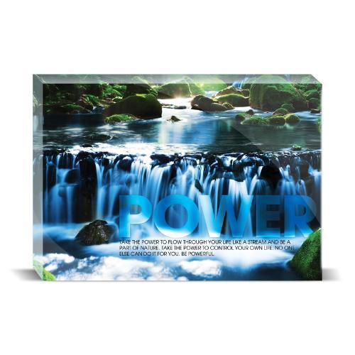Power Waterfall Motivational Art