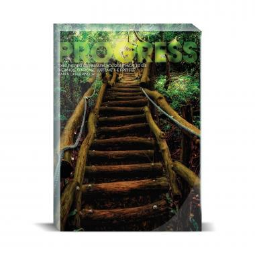 Progress Staircase Motivational Art