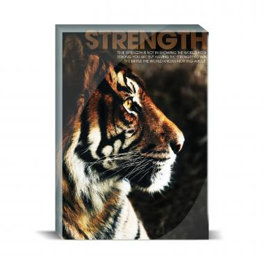 Strength Tiger Motivational Art