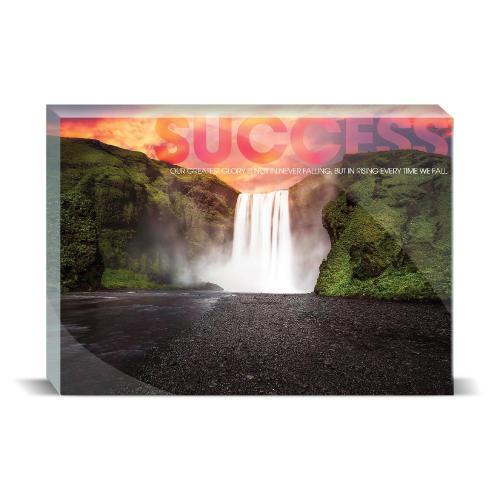 Success Waterfall Motivational Art