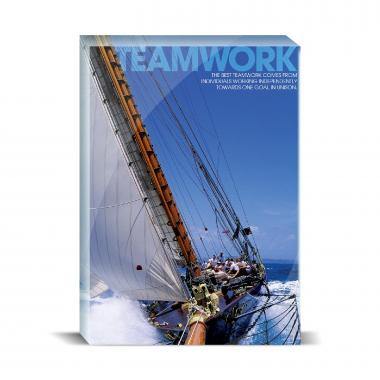 Teamwork Sailboat Motivational Art