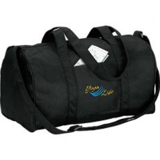 Environmentally Friendly Products - eco-Lifestyle<sup>™</sup> - Recycled duffel bag with handles and adjustable webbed shoulder strap