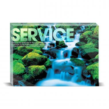 Service Waterfall Motivational Art