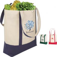 "Tote Bags General - eco-Lifestyle<sup>™</sup> - Economy tote bag with 22"" handles and snap closure"