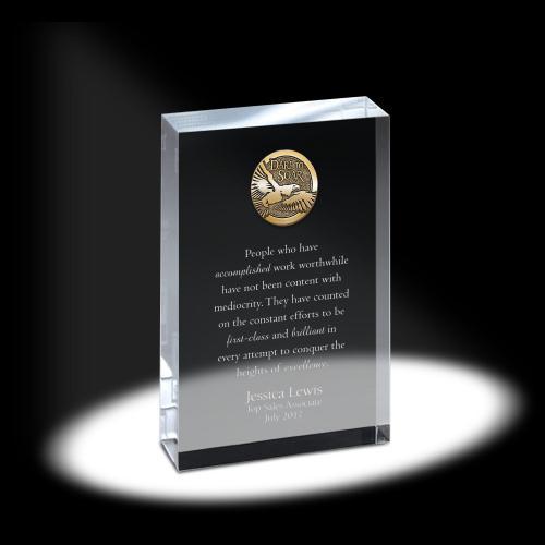 Crystal Tablet Medallion Award