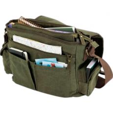 Messenger Bags - Messenger bag with large main zippered main compartment with accessory pocket