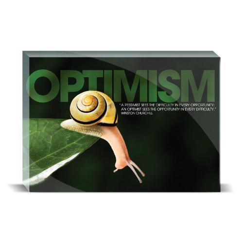 Optimism Snail Motivational Art