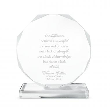 Exceptional Outstanding Octagon Acrylic Award