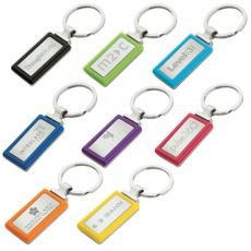 Key Holders General - Rectangle shape keyring with vibrant color