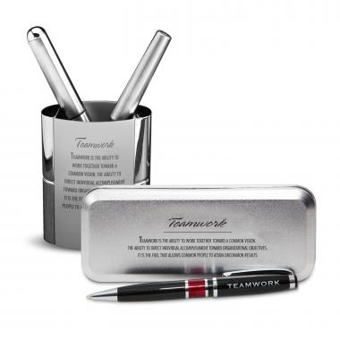 Teamwork Chrome Pen Gift Set
