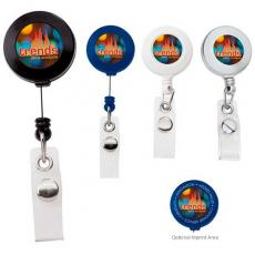 Tradeshow & Event Supplies - Retractable badge holder with slide clip. Extends up to 30""