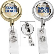 Tradeshow & Event Supplies - Metal retractable badge holder with alligator clip
