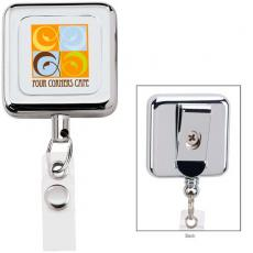 Tradeshow & Event Supplies - Square metal badge holder. Extends up to 30""