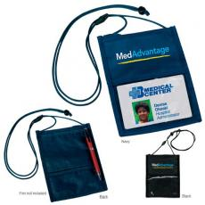 Tradeshow & Event Supplies - Crystal-Line - Neck wallet with clear ID holder, back pocket, pen loop, and pocket with zip