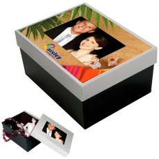 "Office Supplies - Photo gift box, stores 4"" x 6"" photos"