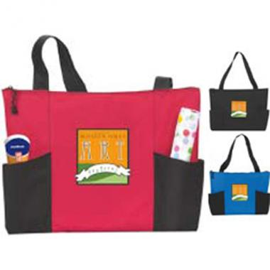 Atchison<sup>&reg;</sup> - Double Pocket Zippered Tote has shoulder length handles