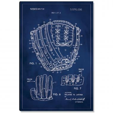 Baseball Glove Patent Art