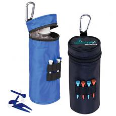 Golf Accessories Divot Fixer - Value Pak - Water bottle cooler with 15 tees, 1 divot repair tool