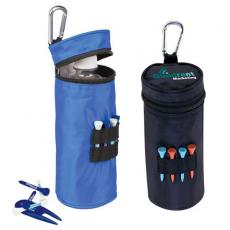 "Golf Accessories Divot Fixer - Water bottle cooler with 15 2 1/8"" tees, 1 divot repair tool"