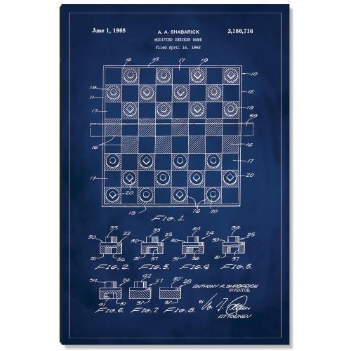 Checkers Patent Art