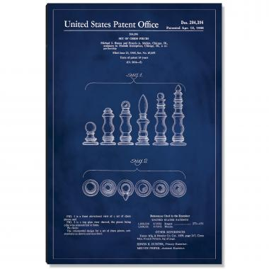 Chess Pieces Patent Art