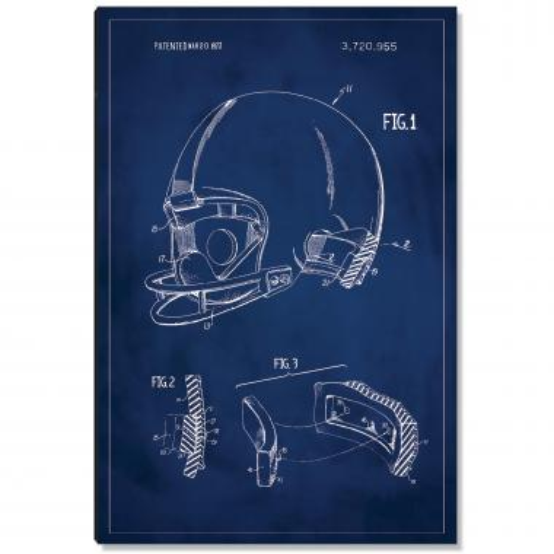 Football Helmet Patent Art