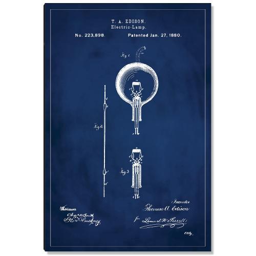 Lightbulb Patent Art