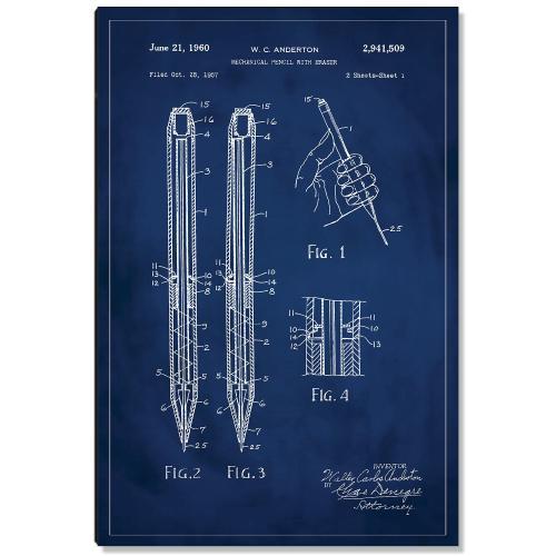Mechanical Pencil Patent Art