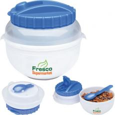 Bowls - Cool Gear<sup>®</sup> - Cereal bowl container, 18 oz. with 10 oz. freezer-gel filled milk cup