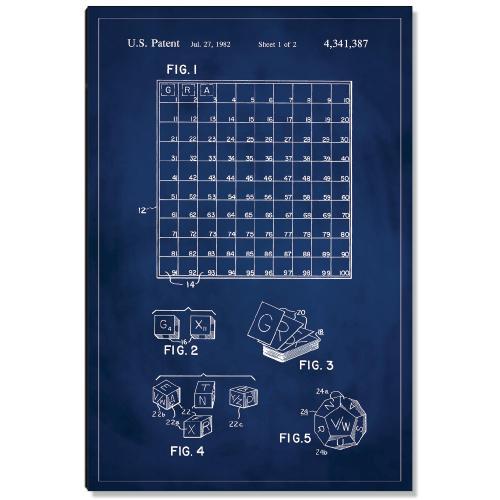 Scrabble Patent Art