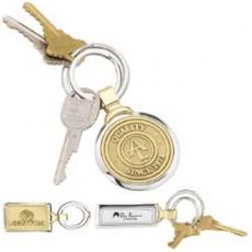 Key Holders General - Two tone brass key tag