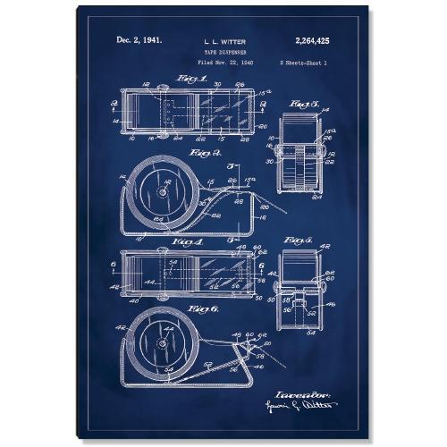 Tape Dispenser Patent Art