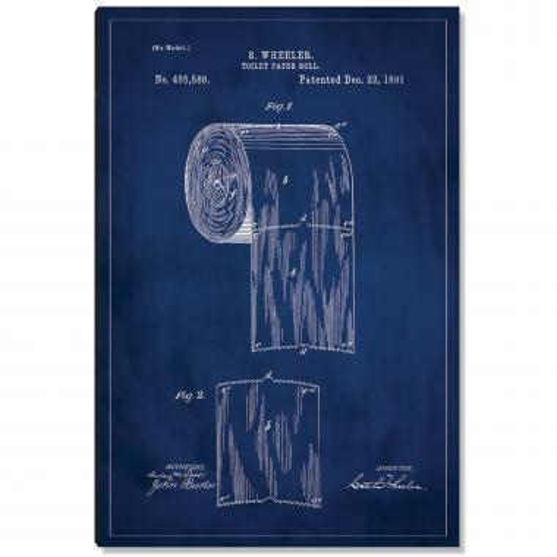 Toilet Paper Patent Art