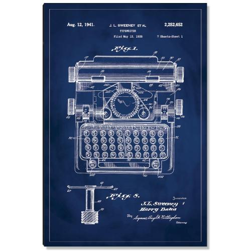 Typewriter Patent Art