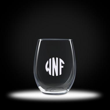 Custom Etched Stemless Trendsetter Wine Glasses