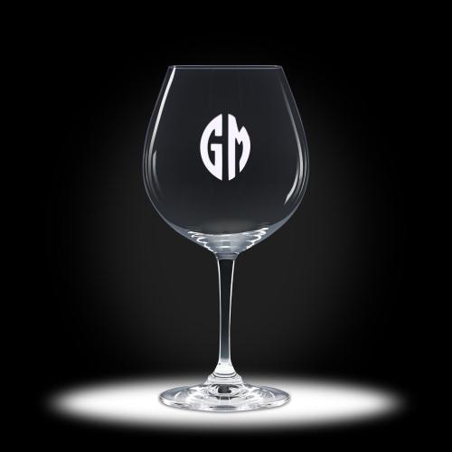 Custom Etched Pinot Stemware