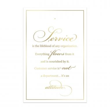 Service Waterfall Lapel Pin Backer Cards
