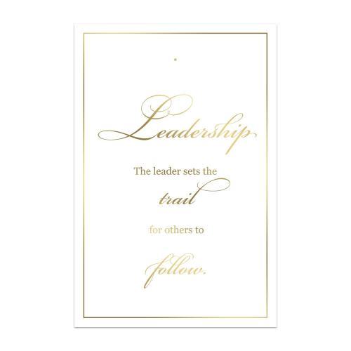 Leadership Compass Lapel Pin Backer Cards