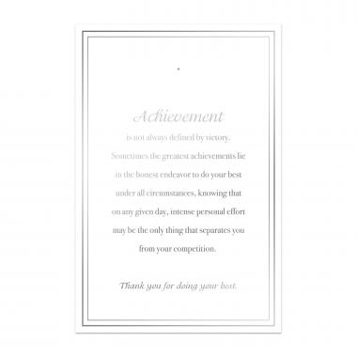 Achievement Lapel Pin Backer Cards