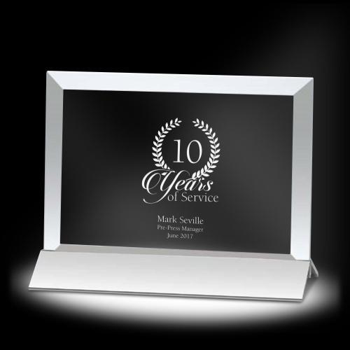 Victor Horizontal Crystal Award