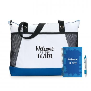 Welcome to the Team Motivational Tote Gift Set