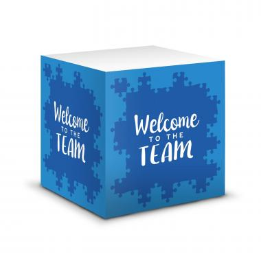 Welcome to the Team Self-Stick Note Cube