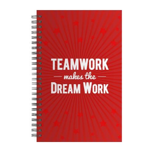 Teamwork Dream Work Spiral Notebook