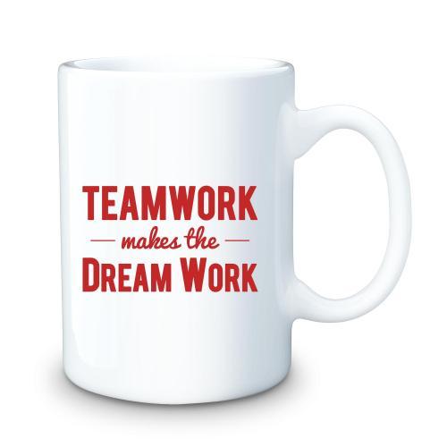 Teamwork Dream Work 15oz Ceramic Mug