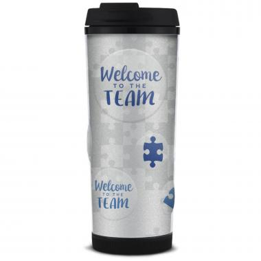Welcome to the Team Glitter Travel Tumbler