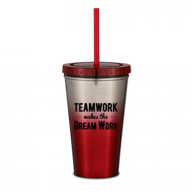 Teamwork Dream Work 16oz Ombre Straw Tumbler